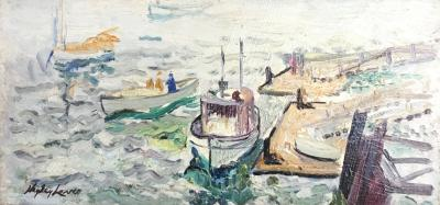 Richard Hayley Lever Boats at Harbor