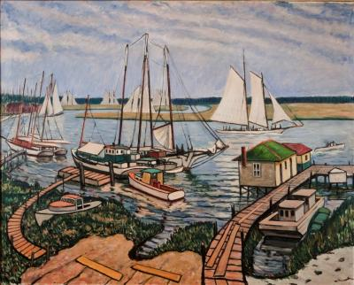 Richard Hayley Lever Boats in the Harbor