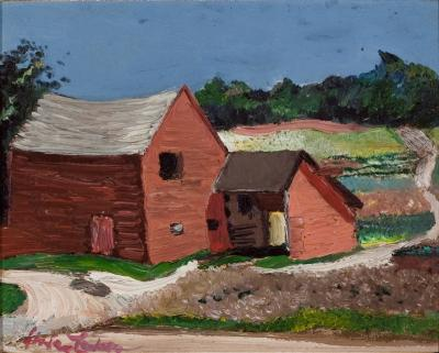 Richard Hayley Lever Farm House with Barn
