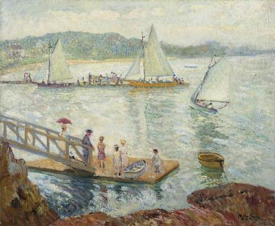 Richard Hayley Lever Figures on a Dock