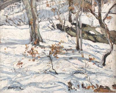 Richard Hayley Lever Near Nyack Winter Morning