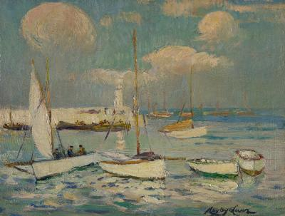 Richard Hayley Lever Sailing on the Ocean