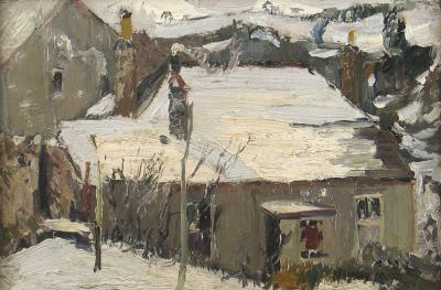 Richard Hayley Lever Winter in Brittany France 1908