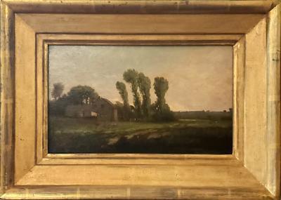 Richard Henry Fuller New England Landscape Oil Painting signed by Richard Henry Fuller