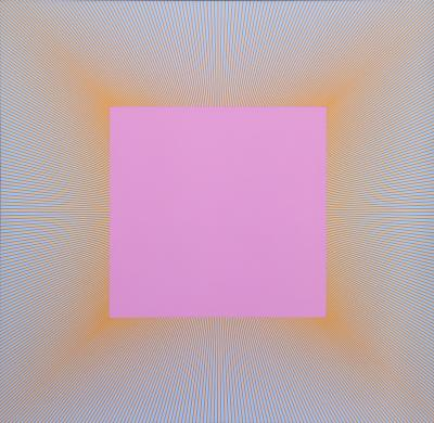 Richard Joseph Anuszkiewicz Light Magenta Square