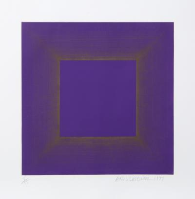 Richard Joseph Anuszkiewicz Midnight Suite Purple with Silver
