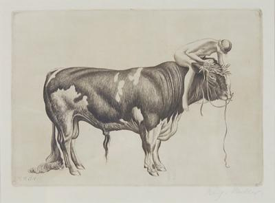 Richard M ller Etching by Richard M ller Die St rkere