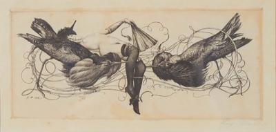Richard M ller Richard M ller etching Rivals in the style of F licien Rops