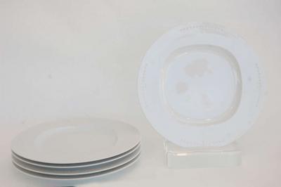 Richard Meier Meier White Chop Plates by Richard Meier for Swid Powell