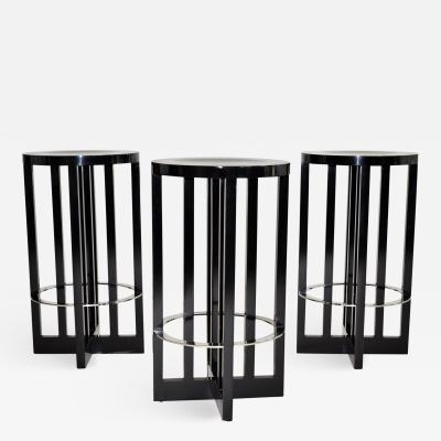 Richard Meier Set of Three High Stools by Richard Meier for Knoll 1982