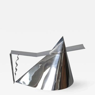 Richard Meier Silver Plated Verseuse Tea Pot by Richard Meier for Christofle
