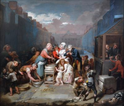 Richard Morton Paye St James Day Large 18th Century Royal Academy Masterpiece Oil Painting