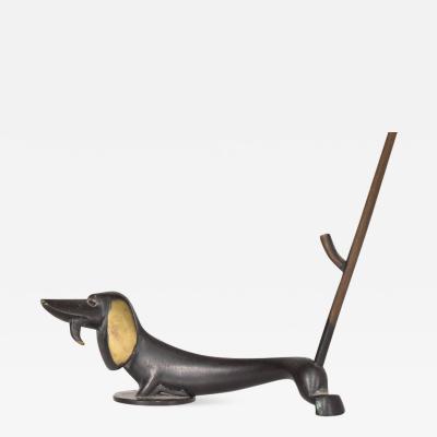 Richard Rohac Austrian Bronze Dog Laying Ring Holder Paperweight by Richard Rohac 1940s