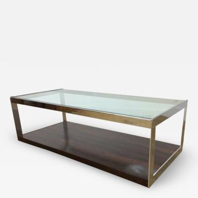 Richard Young MID CENTURY ROSEWOOD CHROME AND GLASS TABLE BY MERROW ASSOCIATES