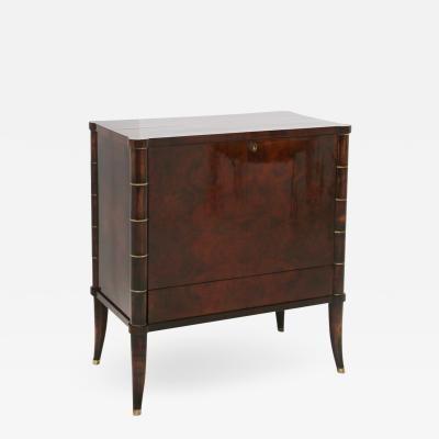 Rico Tomaso Italian Bar Cabinet by Tomaso Buzzi in Wood and Brass Verified Archive 1940s