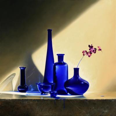 Riflessione Blu Contemporary Still Life Giclee by Dario Campanile
