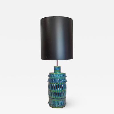 Rimini Blue Mid Century Table Lamp