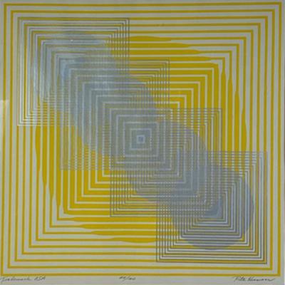 Rita Hermann OPTIC POP ART PRINT SIGNED AND TITLED BY RITA HERMANN
