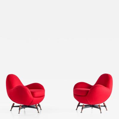 Rito Valla Pair of Rito Valla Mercury Lounge Chairs for IPE Bologna Italy 1963