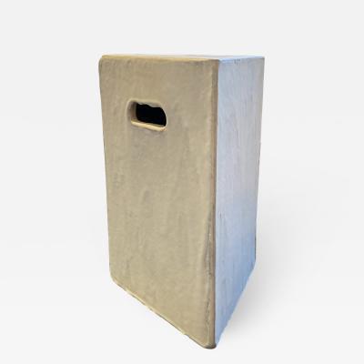 River Valadez Triangular Stoneware Side Table