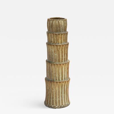Robbie Heidinger Fluted Stack Vase 2 by Robbie Heidinger
