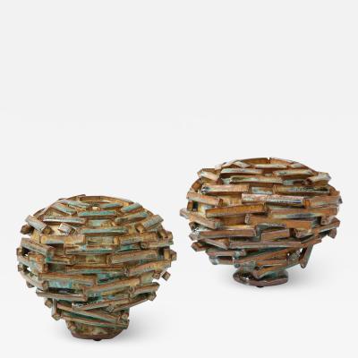 Robbie Heidinger Pair of Jetsam Vases by Robbie Heidinger