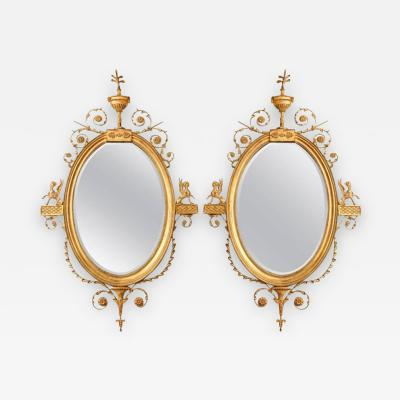 Robert Adam A Pair of George III Style Giltwood Mirrors