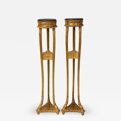 Robert Adam Pair of Georgian Giltwood Torcheres