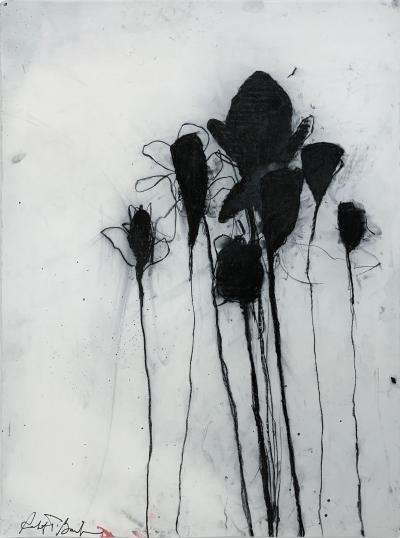 Robert Baribeau Multiple Stems in Black