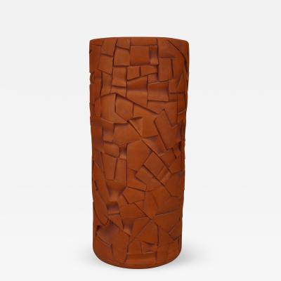 Robert Bentley American Post War Design Cylindrical Terra Cotta Vase