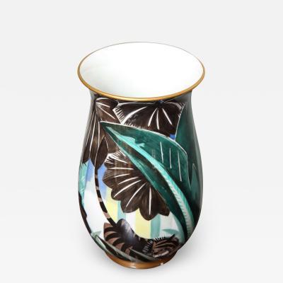 Robert Bonfils Art Deco Porcelain Vase by Robert Bonfils