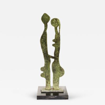 Robert Couturier Patinated Steel Sculpture by Robert Couturier