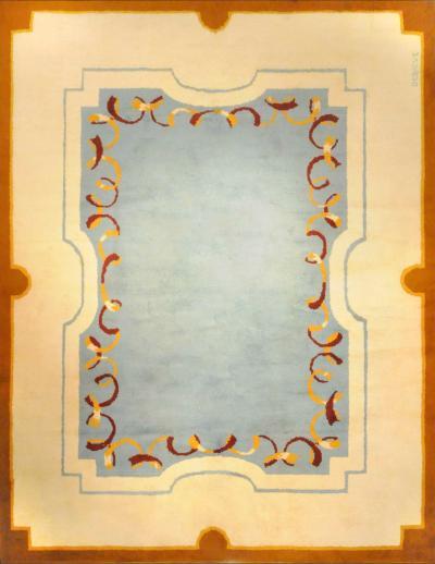 Robert Debieve Art Deco Style Wool Rug designed by Robert Debieve circa 1950