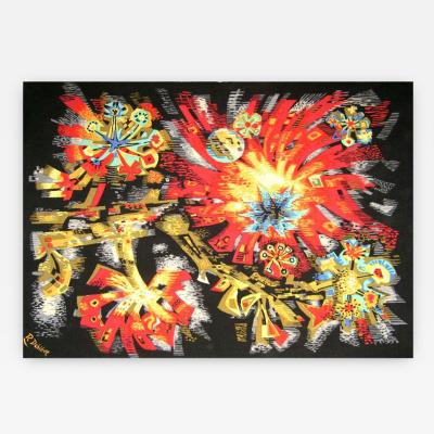 Robert Debieve French Mid Century Floral Tapestry By Robert Debieve for Corot Edition