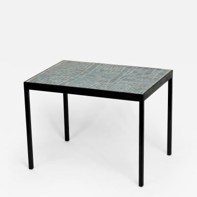 Robert Deblander Mosaic Glass Tile Top Side Table