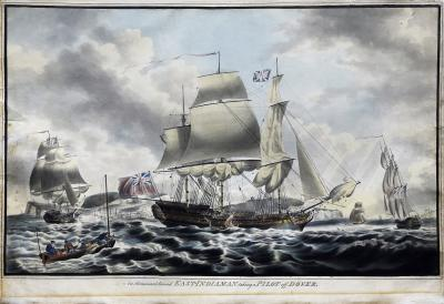 Robert Dodd An Outward Bound East Indiaman Sailing from the Downs