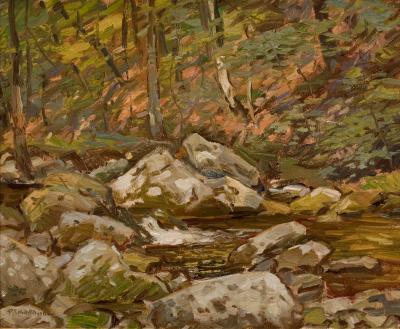 Robert Emmett Owen Rocks and Stream