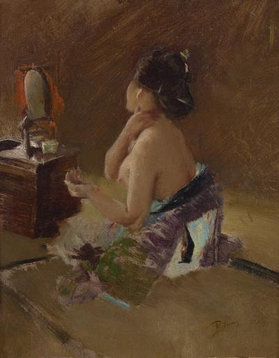 Robert Frederick Blum Lady at her Toilet