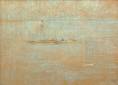Robert Frederick Blum Sampans at Sea