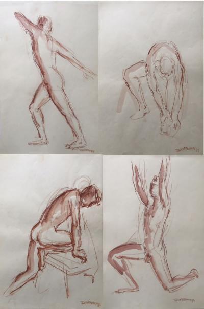 Robert Freiman Male Nudes by Robert Freiman 1957