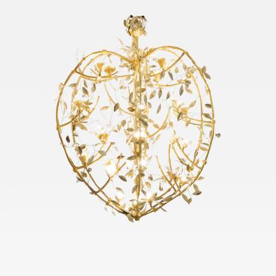 Robert Goossens Incredible Rosebush chandelier by Robert Goossens circa 1980