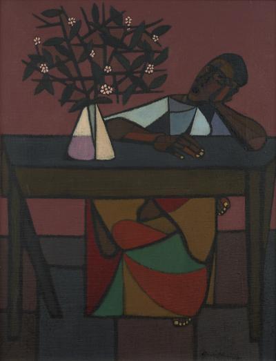 Robert Gwathmey Woman at Table