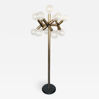 Robert Haussmann Floor Lamp Gilt Metal by Robert Haussmann Suisse 1970s