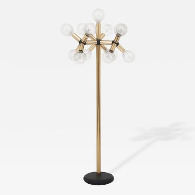 Robert Haussmann Floor Lamp Plated Metal