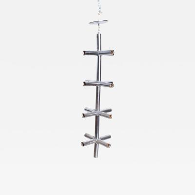 Robert Haussmann Mid Century Modern Robert Haussmann Hanging Cross Chrome Chandelier