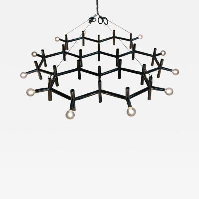 Robert Haussmann Robert Haussmann Atomic Hanging Chandelier Mid Century Modern