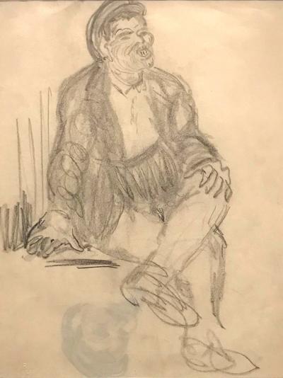 Robert Henri A Figural Drawing on Paper by Robert Henri
