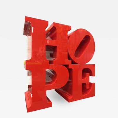 Robert Indiana HOPE Flame Red