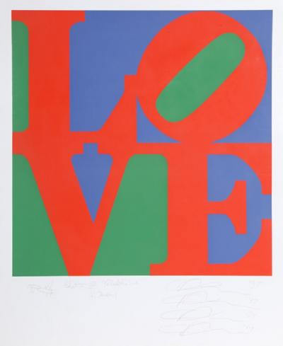 Robert Indiana Philadelphia Love Proof