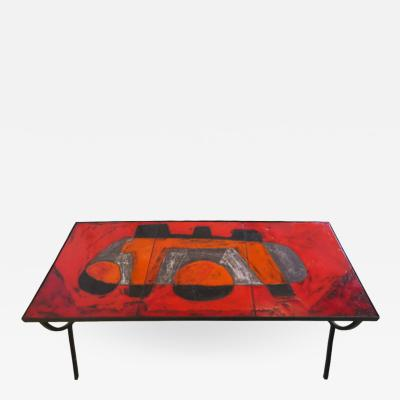 Robert Jean Cloutier Ceramic Tile Coffee Table by Cloutier
